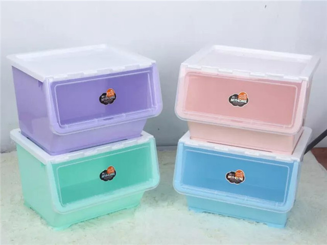 Stackable Side Open Lid Storage Box