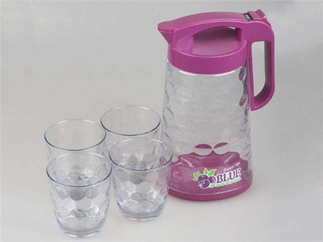 Plastic Water Jug Set Glass Water Pitcher Sets Plastic