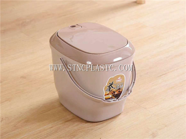 plastic tea waste container bucket with cover