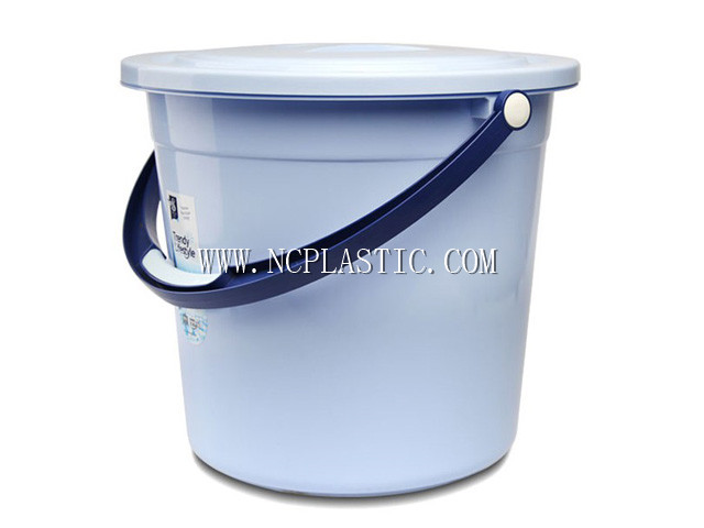 plastic round water bucket with cover M