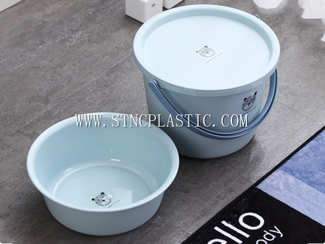 plastic round bucket set 3pcs 8L
